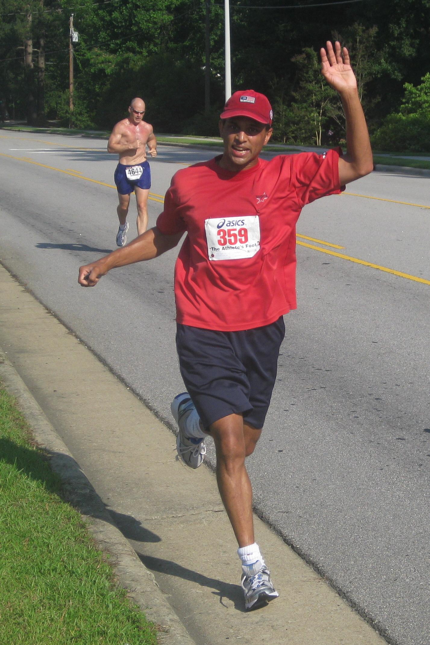 Steve Rao runs 5K.