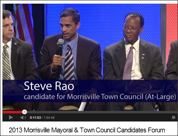 Morrisville Chamber of Commerce posted the candidate debate on YouTube.