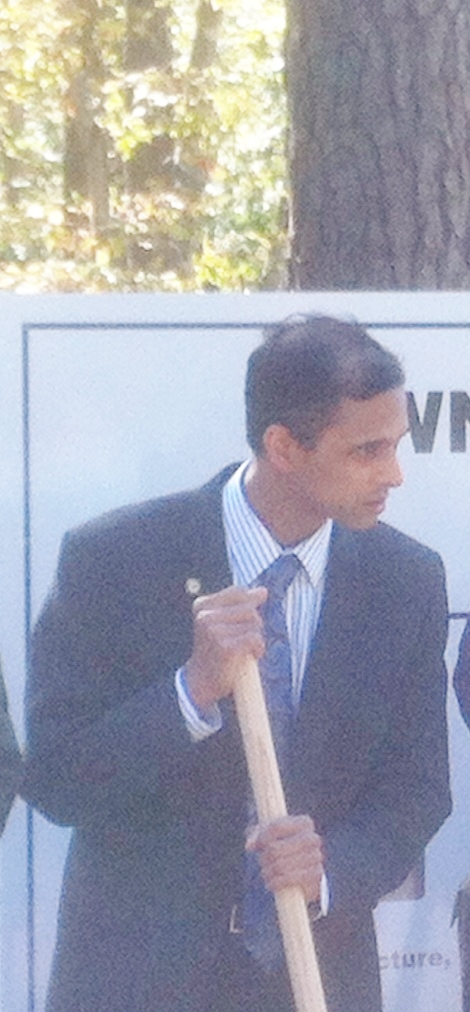 Steve Rao with Morrisville Leaders break ground on the new RTP Park