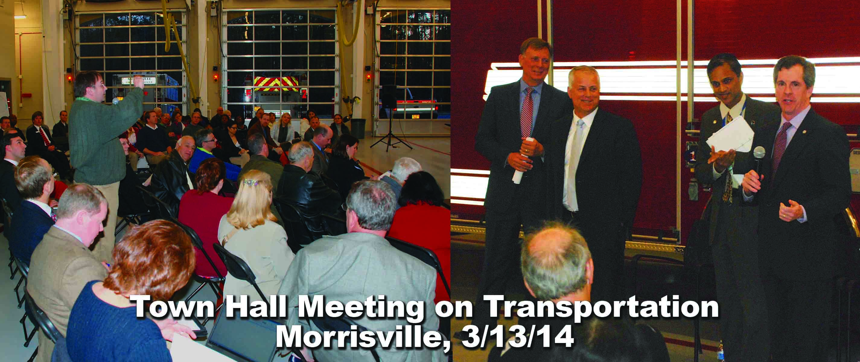 This picture depicts Morrisiville town hall meeting on March 13, 2014, at Fire Station 1.