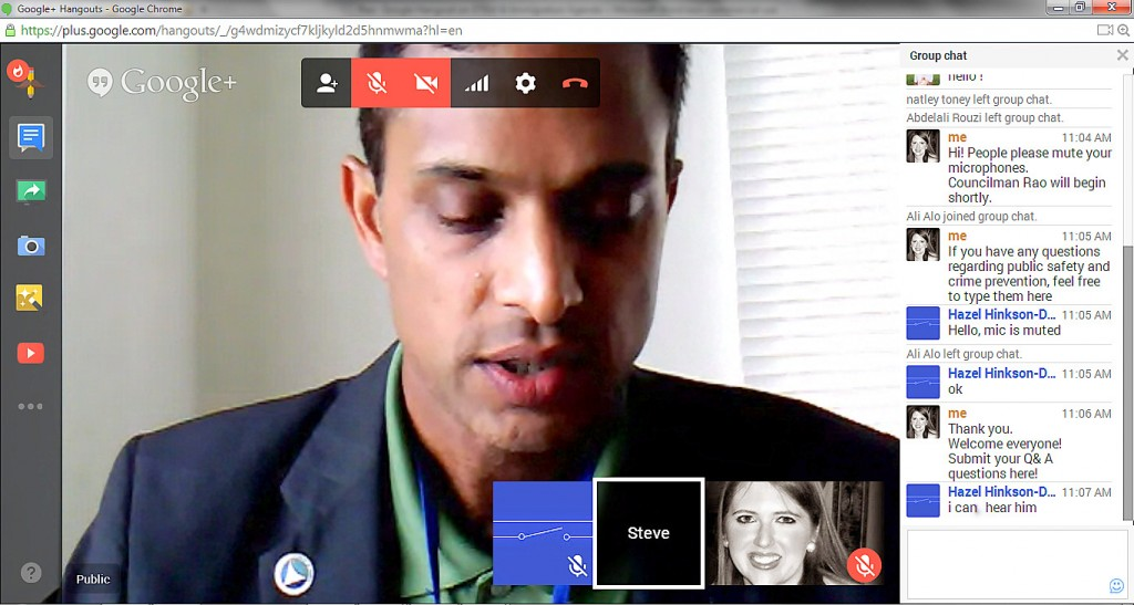 Captured Google Hangout