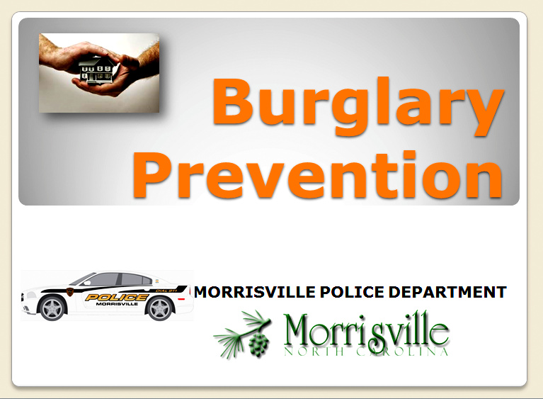 Burglary Prevention Title Page