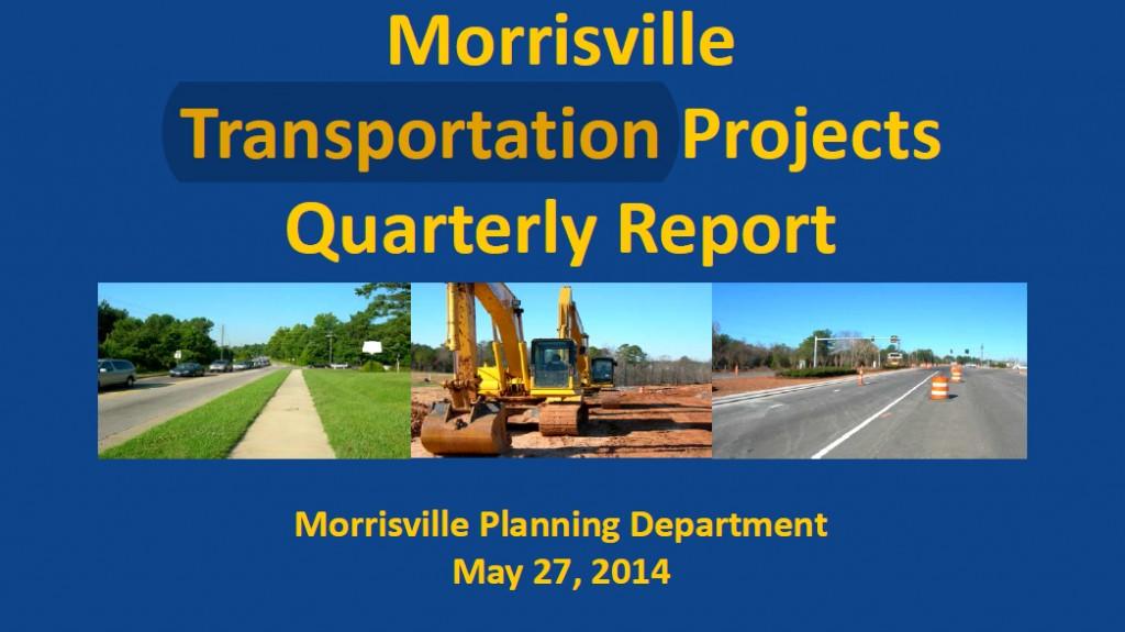 Morrisville Planning Department Transportation Presentation