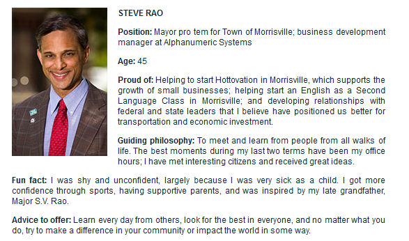 Steve Rao in Cary magazine